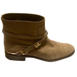 Dior low rider taupe boots