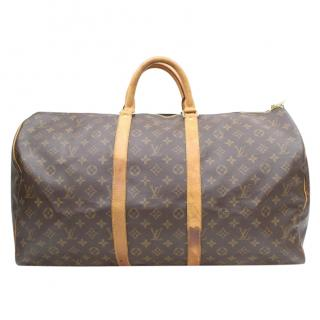 Louis Vuitton Keepall 55  Monogram Boston Bag