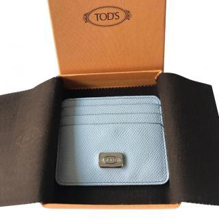 Tod's pale blue card holder
