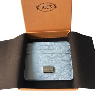 Tod's pale blue card holder