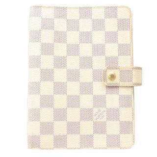 Louis Vuitton Agenda MM Damier Azur Diary Cover