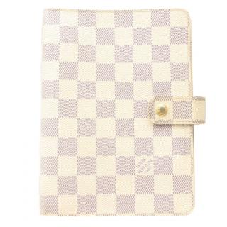 Louis Vuitton Agenda MM Damier Azur Diary Cover