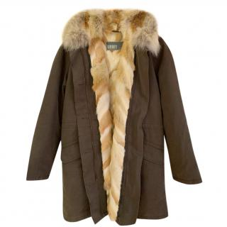 Yves Salomon Coyote Fur Lined Parka Coat