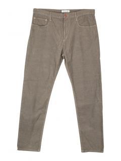 Isabel Marant Etoile green corduroy straight leg trousers