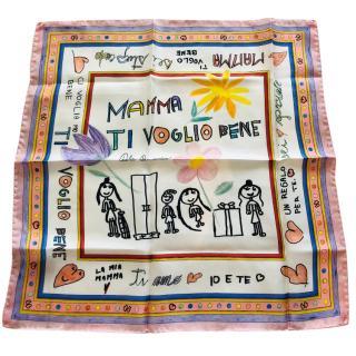 Dolce & gabbana Mamma silk scarf