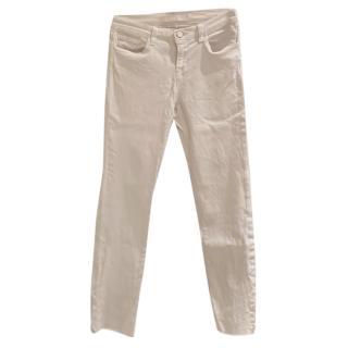 J Brand White Cigarette Leg Jeans