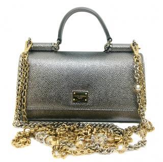 Dolce & Gabbana silver Sicily Von bag