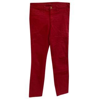 J Brand Burgundy Jeans