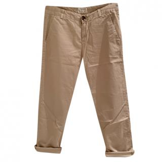 Current Elliott Beige The Captain Trousers