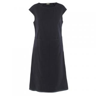 Bottega Veneta Navy Fitted Shift Dress