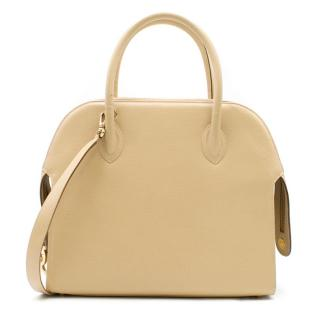 Salvatore Ferragamo Sand Leather Shoulder Bag