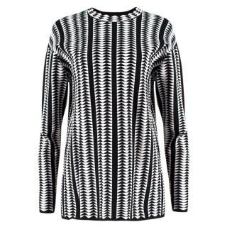 Alaia Monochrome Geometric Sweatshirt
