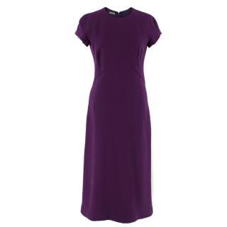 Bottega Veneta Purple Fitted Dress