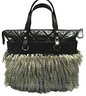 Chanel Leather Faux Fur Quilted Runway Tote