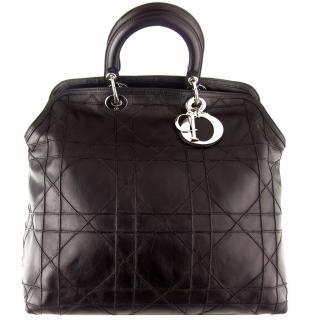 Christian Dior Granville leather tote bag
