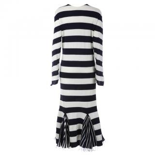 Celine Striped Wool Knit Dress