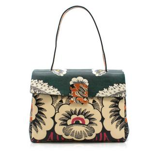 Valentino Floral Printed Top Handle Bag