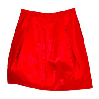 Ralph Lauren Black Label Red Silk Skirt