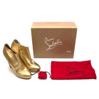 Christian Louboutin Rock and Gold 120mm Leather Ankle Boots