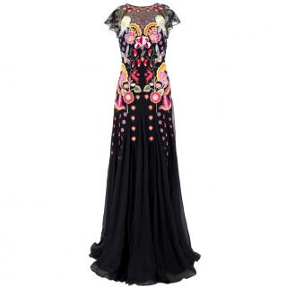 Temperley Chimera Black-Embroidered Gown