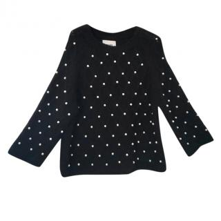 Max & Moi pearl trimmed chunky knit jumper