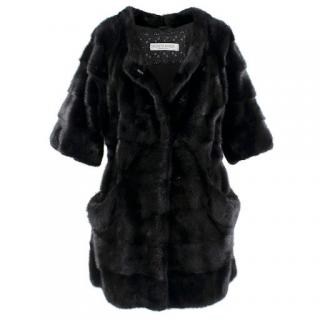Simonetta Ravizza Black Mink Lightweight Coat