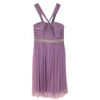 Dior Runway Galliano Bead-Embellished Silk Dress