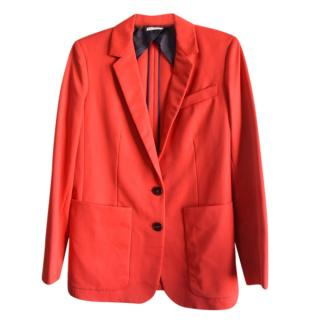 Hermes red wool blazer