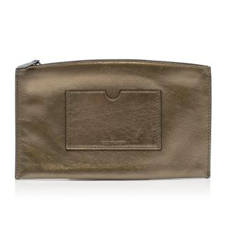 Reed Krakoff Metallic-Gold Atlantique Leather Pouch