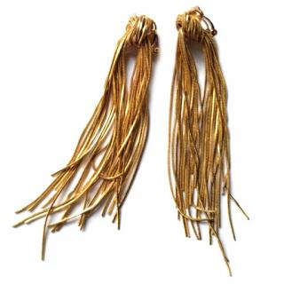 Celine Gold-Tone Tassel Clip-on Earrings