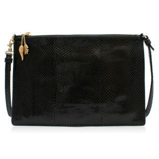 Roberto Cavalli Black Python Shoulder Bag