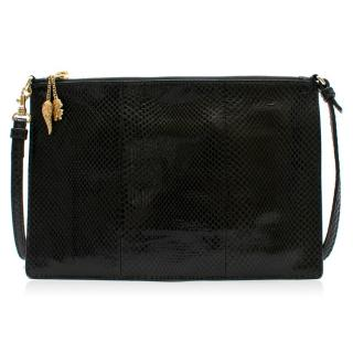 Roberto Cavalli Black Python Shoulder Bag