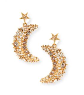 Oscar De La Renta Celestial Swarovski Crystal Drop Earrings