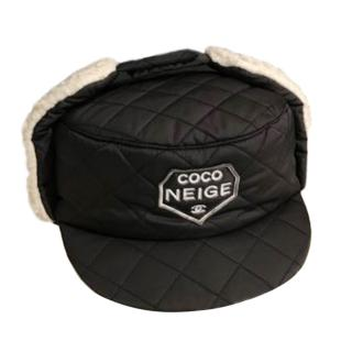 Chanel Coco Neige Quilted Shearling Hat - Current