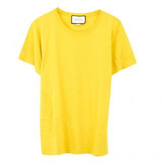 Gucci Yellow Logo T-Shirt
