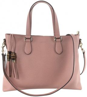 Gucci grained-leather pink cross-body bag
