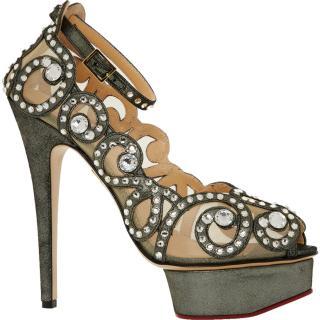 Charlotte Olympia Gunmetal Heels