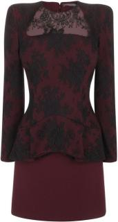 Alexander McQueen Peplum Lace Dress