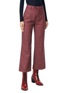 Chloe Checked Wool-blend Kick-Flare Trousers