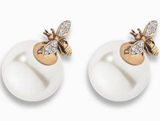 Dior bee tribale earrings