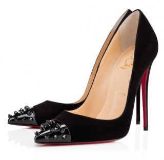 Christian Louboutin Geo Suede & Patent Pumps W/ Box & Dustbag