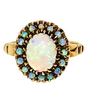 Bespoke Opal Ring Set In 14k Gold