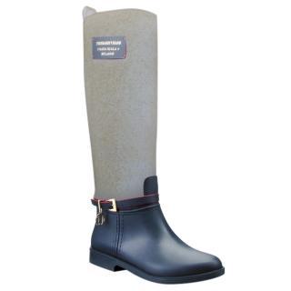 Trussardi Jeans Wellington Boots Beige/Brown