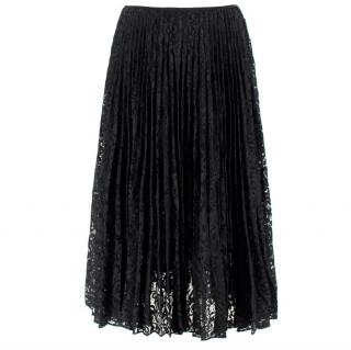 Theory Black Lace Midi Skirt