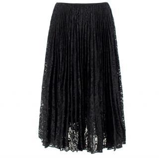 Theory Black Lace Midi Skirt