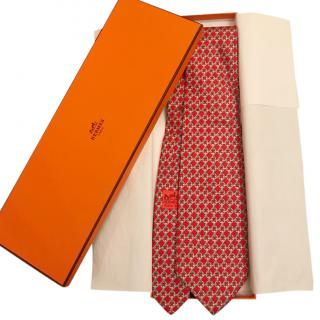 Hermes Red Chain Tie - New Season