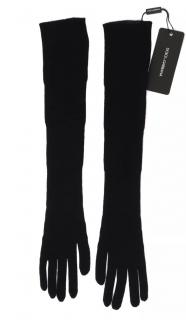 Dolce & Gabbana black cashmere long gloves