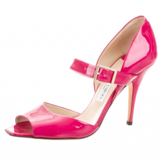 Jimmy Choo Pink Patent Sandals
