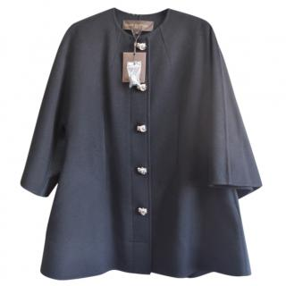 Louis Vuitton black cashmere coat