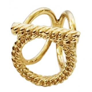 Salvatore Ferragamo gold plated scarf ring